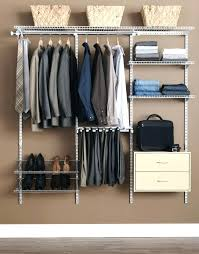 rubbermaid closet systems casual bedroom decor with closet system simple arranged wardrobe manly and brown wall rubbermaid closet