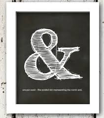 ampersand wall decor