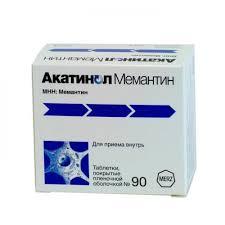 <b>Акатинол мемантин</b> таблетки <b>10мг</b> №90 цена от 4116 руб. в ...