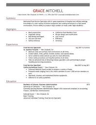 Food Service Resume Examples Elegant Resume Examples For Customer