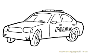 Police Car Coloring Pages Printable Coloring Page 8 Police