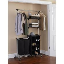 clothing drying rack scenic interior brown wooden wall mounted shelves and silver