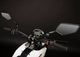 zero xu electric motorcycle mirrors and controls