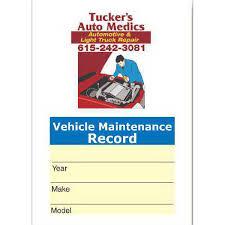 Car Maintenance Record Vehicle Maintenance Record Information Kit Goimprints