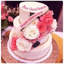 Edit Cherry Anniversary Cake With Couple Names Write Rapi Cake Gallery
