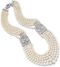 necklace with five graduated strands cartier france 1930 40 platinum