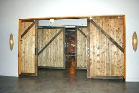 wooden sliding doors custom rustic restaurant room dividers commercial insulated barn timber au