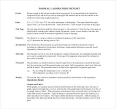 Example Of A Lab Report 15 Laboratory Report Templates Free Pdf Ms Word Apple Pages