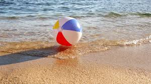 beach ball in sand.  Beach Beach Ball At The Mercy Of Waves The Sea Dragging A Beach Ball And  Returns It To Shore A Lost Sea Playing Vacation  Intended In Sand