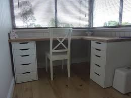 Simple functioning desk - I would just swap out one side of drawers for a  file