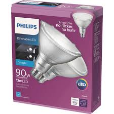 Philips Led Light Warranty Philips 90w Equivalent Daylight 5000k Par38 Dimmable Classic Glass Led Energy Star Flood Light Bulb 2 Pack