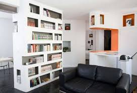 Bookcase Room Dividers: Two Functions in one Furniture  White bookcase  room dividers ideas in living room