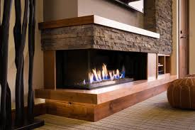 a 130 left sided fireplace surrounded by traditional materials