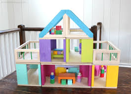 view in gallery wooden dollhouse
