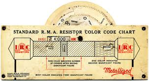 Resistor Color Code Chart Awesome Wheel Charts For Antique Radios Electronics And Technology