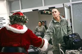 u s department of defense photo essay santa claus greets a returning u s airman upon his arrival at the baltimore washington international