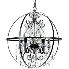 unusual fascinating crystal orb chandelier iron orb chandelier round black metal chandeliers with crystal and iron