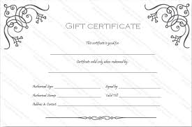 Blank Gift Certificate Template Business