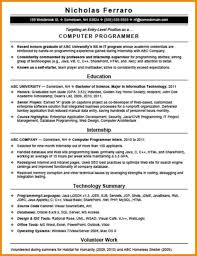 computer programmer resume samples computer programmer resume example