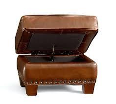 tan storage ottoman tan leather storage ottoman