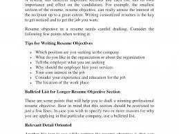 Stunning Design Objective Part Of Resume 16 Professional