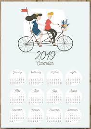 one page calender 12 months 2019 one page calendar keepsake calendar 2019