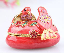 Decorative Ring Boxes Buy 100% Handmade Swan in the Pool Decorative Metal Jewelry 69