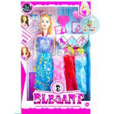 Búp bê đồ chơi cho bé gái kèm váy áo, phụ kiện đáng yêu kích thước 30cm  051a - Thị trấn đồ chơi chính hãng 35,000đ