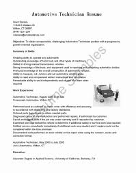 Sample Resume For Auto Technician Sample Resume For Auto Mechanic ...