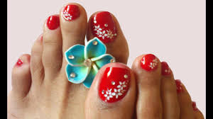 Nail Art For Toes Sexy Red Nails