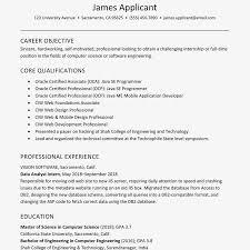 Sample Resume Of Experienced New Grad