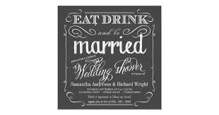 Couple Wedding Shower Invitations Chalkboard Couples Wedding Shower Invitations Zazzle Com