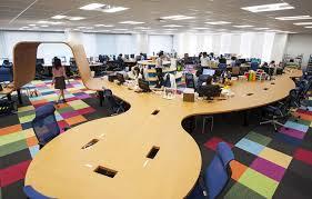 work office design. Teamlab Design Pikiv Office With 250m Interactive Work Desk O