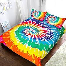 Amazon.com: Blessliving Rainbow Tie Dye Bedding Colorful Tye Dye ... & Blessliving Rainbow Tie Dye Bedding Colorful Tye Dye Duvet Cover  Psychedelic Watercolor Artsy Bedding 3 Piece Adamdwight.com