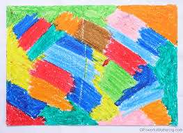 wax crayon scratch paper