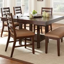 mind blowing dining room design ideas using round dining table with lazy susan contempo brown