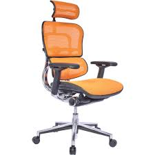 orange office furniture. Ergohuman Office Chair In Mesh With Headrest Orange Furniture E