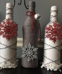 Wine Bottle Decor. Craft Bottles. Glass Bottle Art. Home