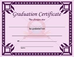 Graduation Certificate Template Word Fascinating College Graduation Certificates Templates