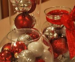 red and silver table decorations. Medium-size Of Adorable Table Decor With Silverbaubles Red Plus Glass Jars Filled And Silver Decorations