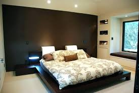 chocolate brown master bedroom accent wall in design with dark living
