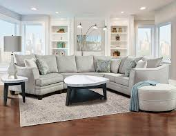 six piece cuddler sectional furniture package