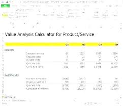 Excel Roi Template Roi Analysis Template Excel Excel Spreadsheet Excel