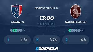 Taranto - Nardo Calcio » Live Score & Stream + Odds, Stats, News