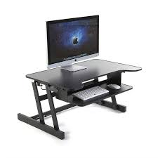 home office computer workstation. Height Adjustable Standing Desk Ergonomic Home Office Furniture Monitor Laptop Computer Workstation Keyboard Tray 81cm