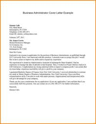 Cover Letter For Business Administration The Letter Sample