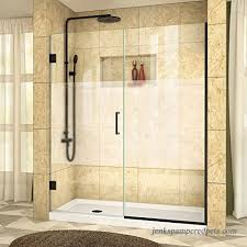 dreamline shdr 245507210 hfr 09 unidoor plus w x h frameless hinged shower door frosted band
