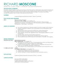 Resume Templates For Dental Assistant Resume For Dental Assistant