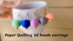 <b>diy</b> Paper Quilling <b>3D</b> Beads  How To Make Quilling Earrings ...