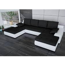 Sofa Polsterecke Linosa Weiß Strukturstoff Schwarz Ecksofa Von Jalano Wohnlandschaft U Form Couch Schlafsofa Mit Kissen Ceres Webshop